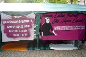 Kundgebung am 22.5. auf dem Jorge-Gomondai-Platz
